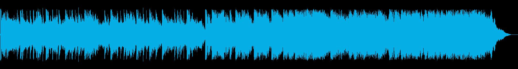 二胡などの東洋楽器を使ったBGMの再生済みの波形