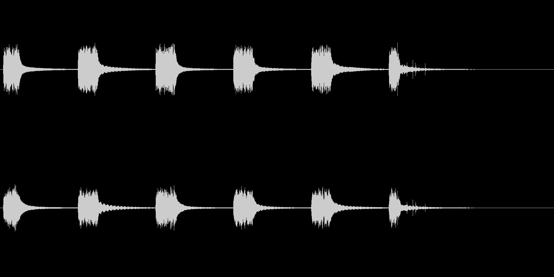 英国式電話:ベルリング、ピックアップの未再生の波形