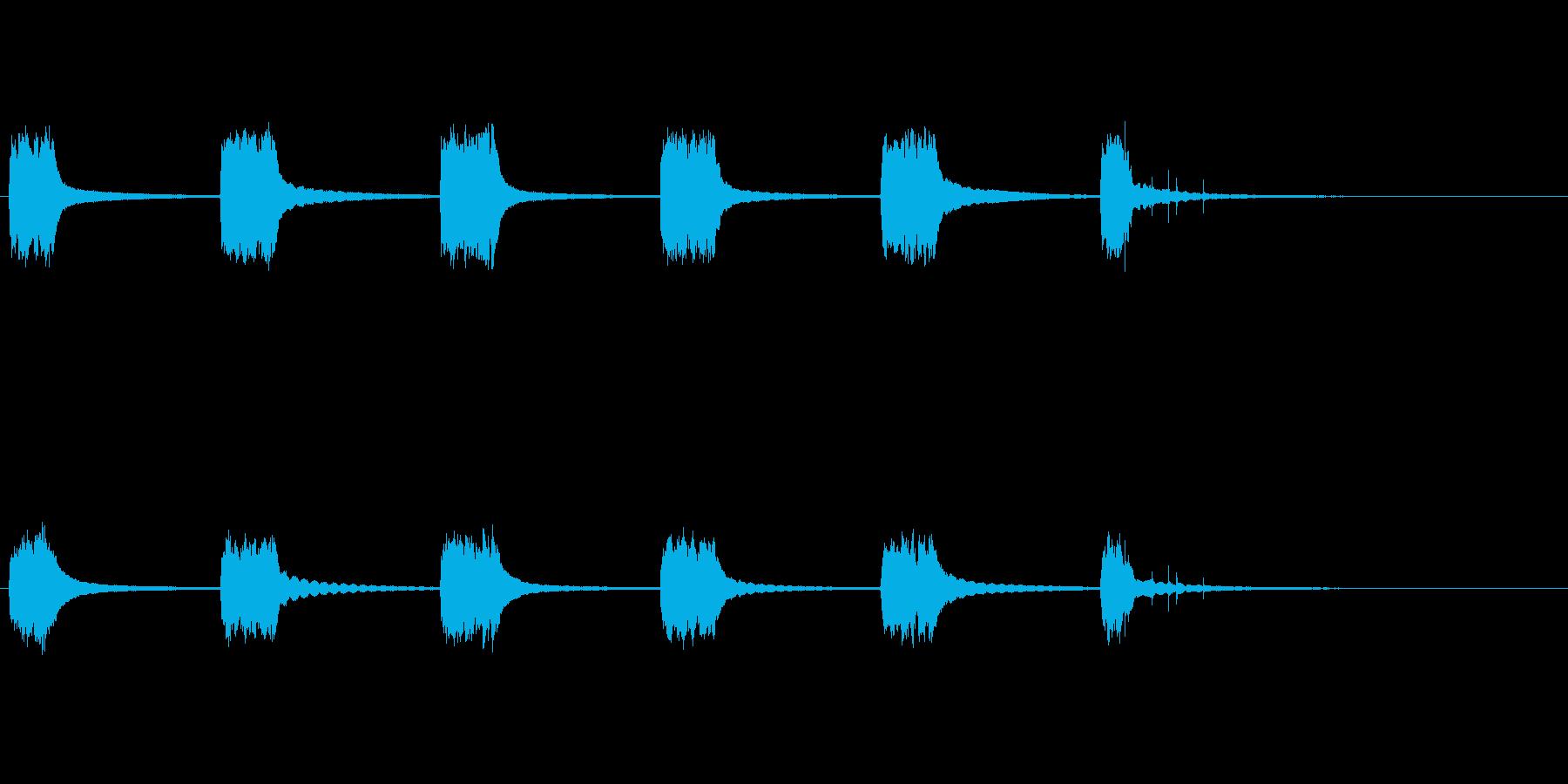 英国式電話:ベルリング、ピックアップの再生済みの波形