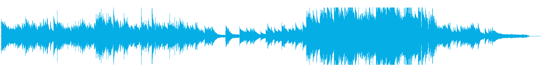 BGM バラード(piano)の再生済みの波形