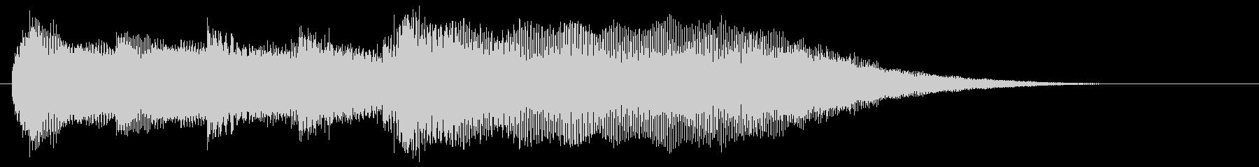 サウンドロゴ、ジングル(ギター)の未再生の波形
