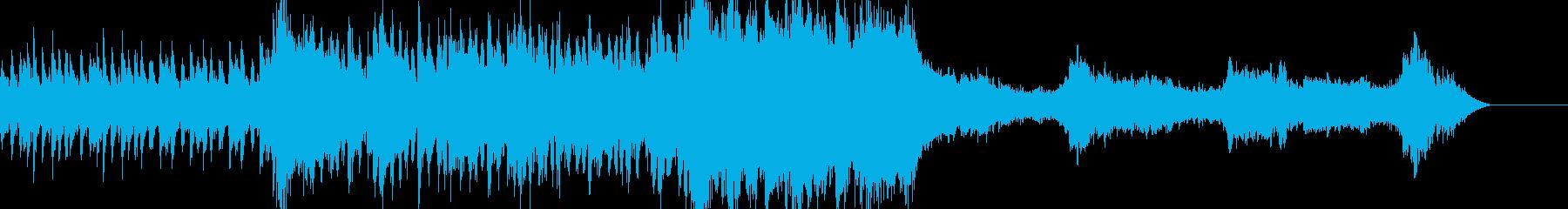 壮大で暗いファンタジー風ミュージックの再生済みの波形