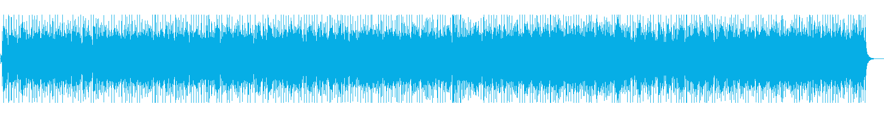 軽やかなリズムが特徴のハッピーな楽曲の再生済みの波形