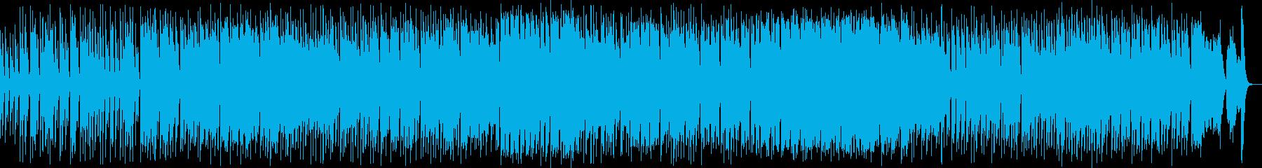 滑稽でクールなジャズ風曲の再生済みの波形