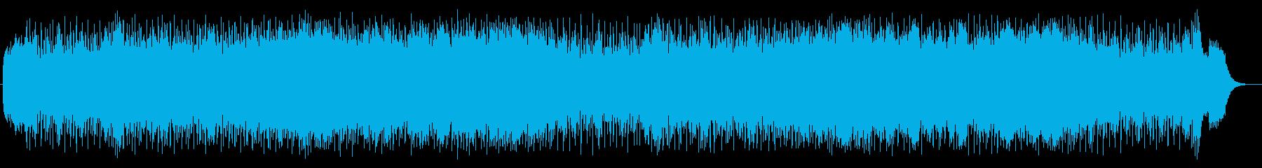 宇宙空間を漂うようなラウンジミュージックの再生済みの波形