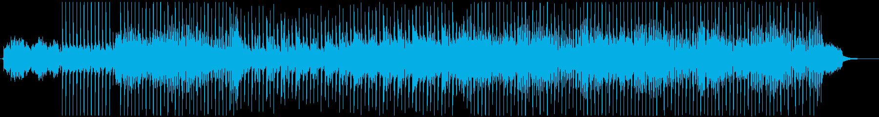 爽快でポジティブなアコースティック曲の再生済みの波形