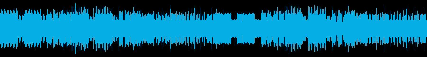 明るくてワクワクする8bitの曲の再生済みの波形