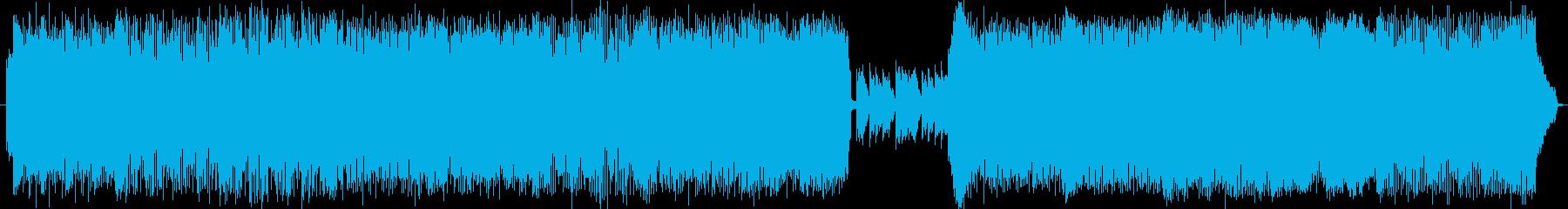 坦々とした朴訥なイメージの強いデジタル曲の再生済みの波形