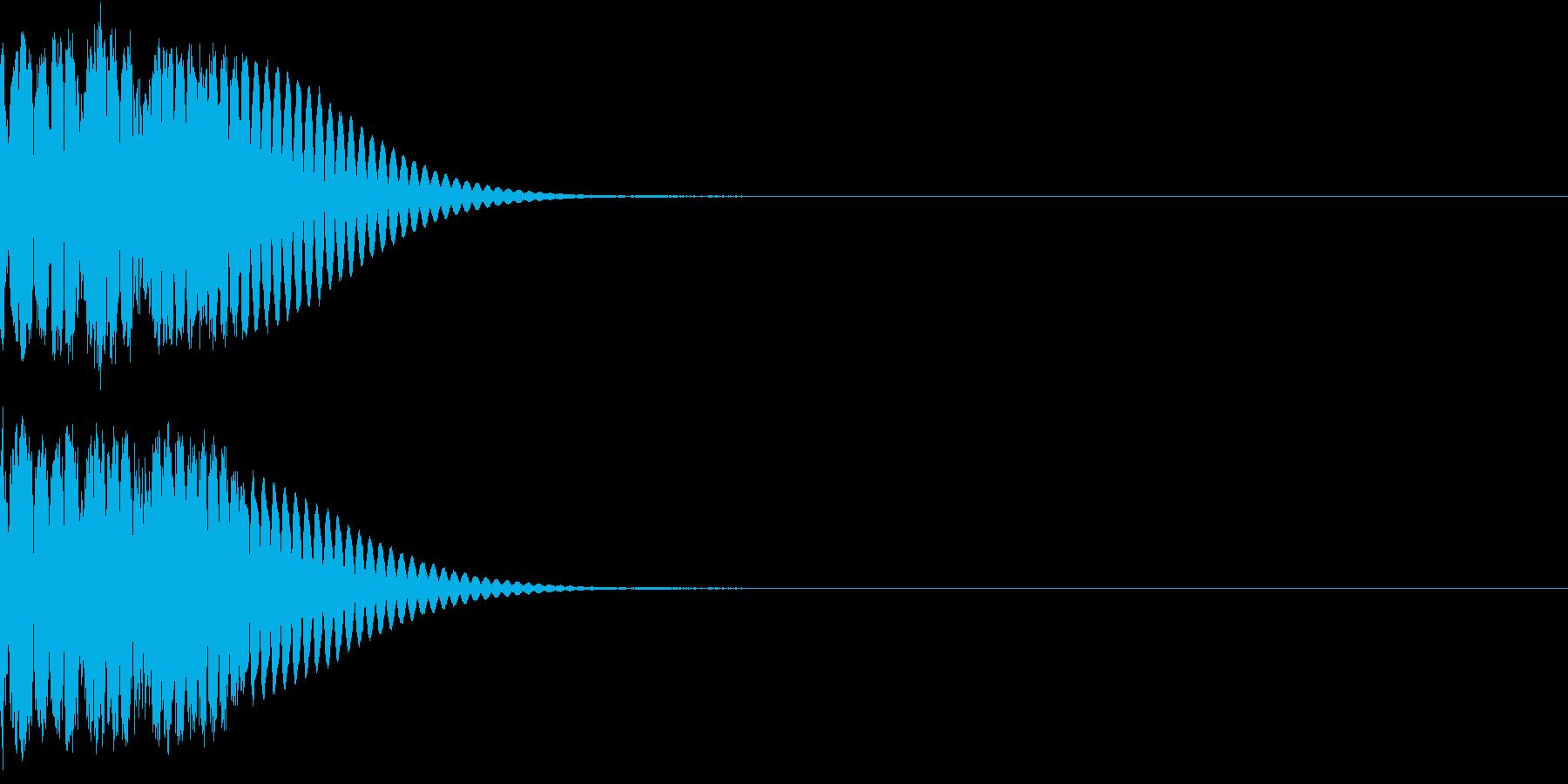 クリック音、キラン、キュイン、ピコン10の再生済みの波形