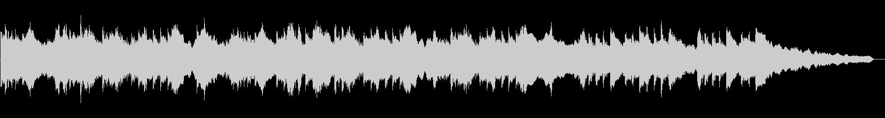 和風な旋律のゆったりとしたBGMの未再生の波形