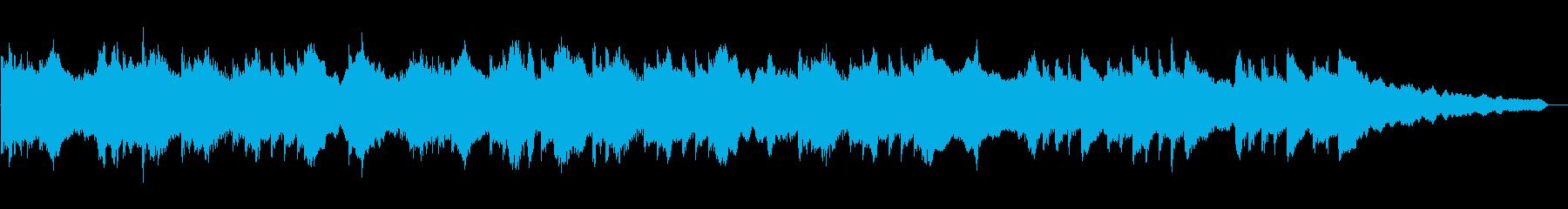 和風な旋律のゆったりとしたBGMの再生済みの波形