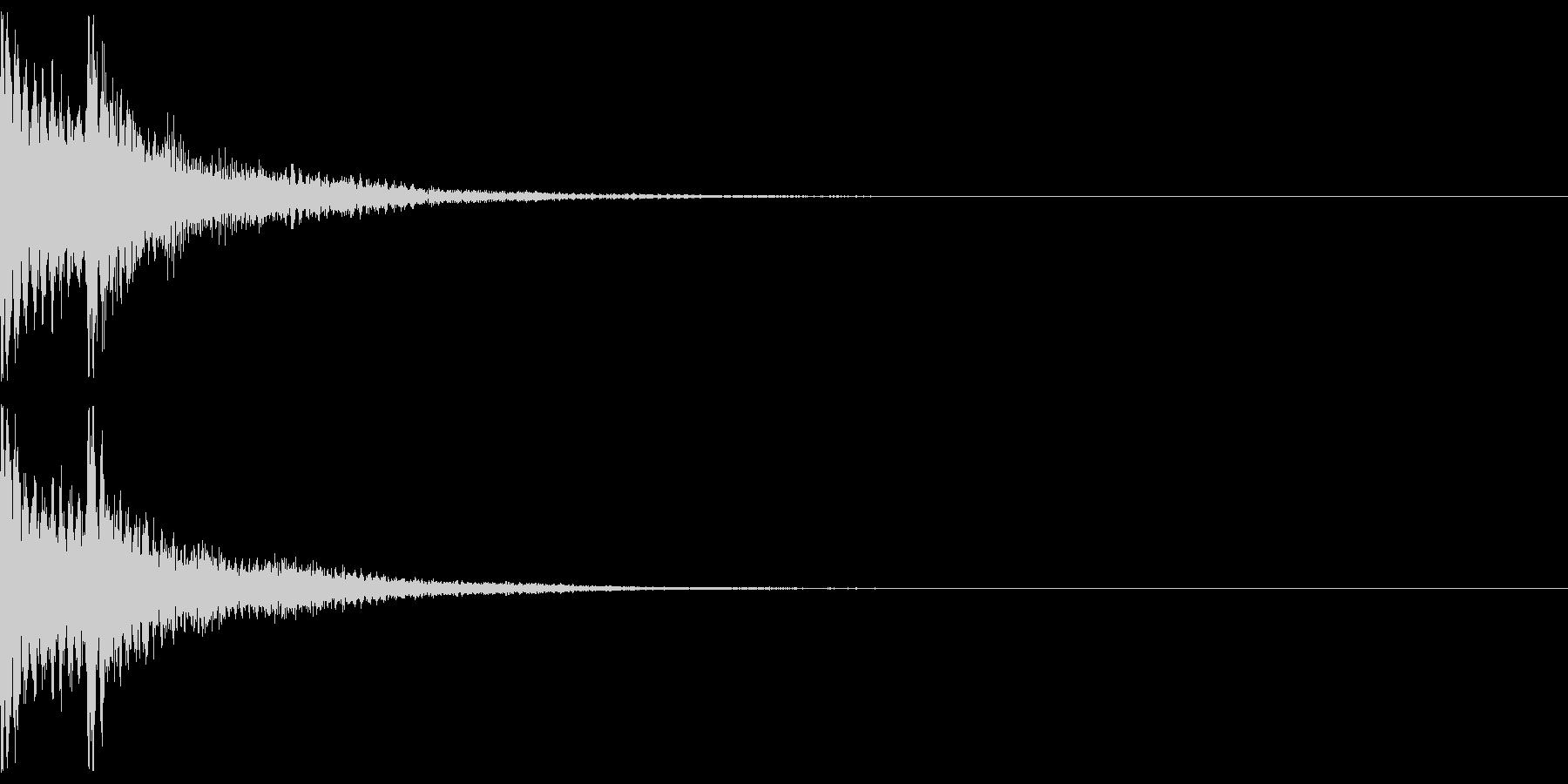 三味線と和太鼓のジャジャン!リバーブの未再生の波形