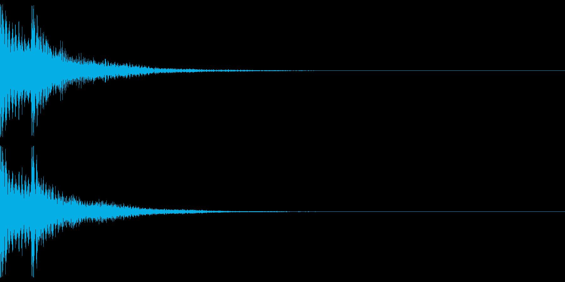 三味線と和太鼓のジャジャン!リバーブの再生済みの波形