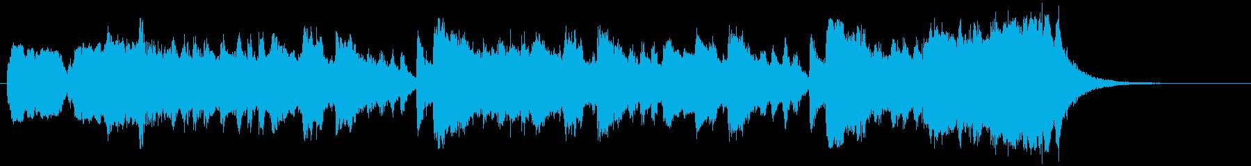 吹奏楽の和風で壮大な30秒ファンファーレの再生済みの波形