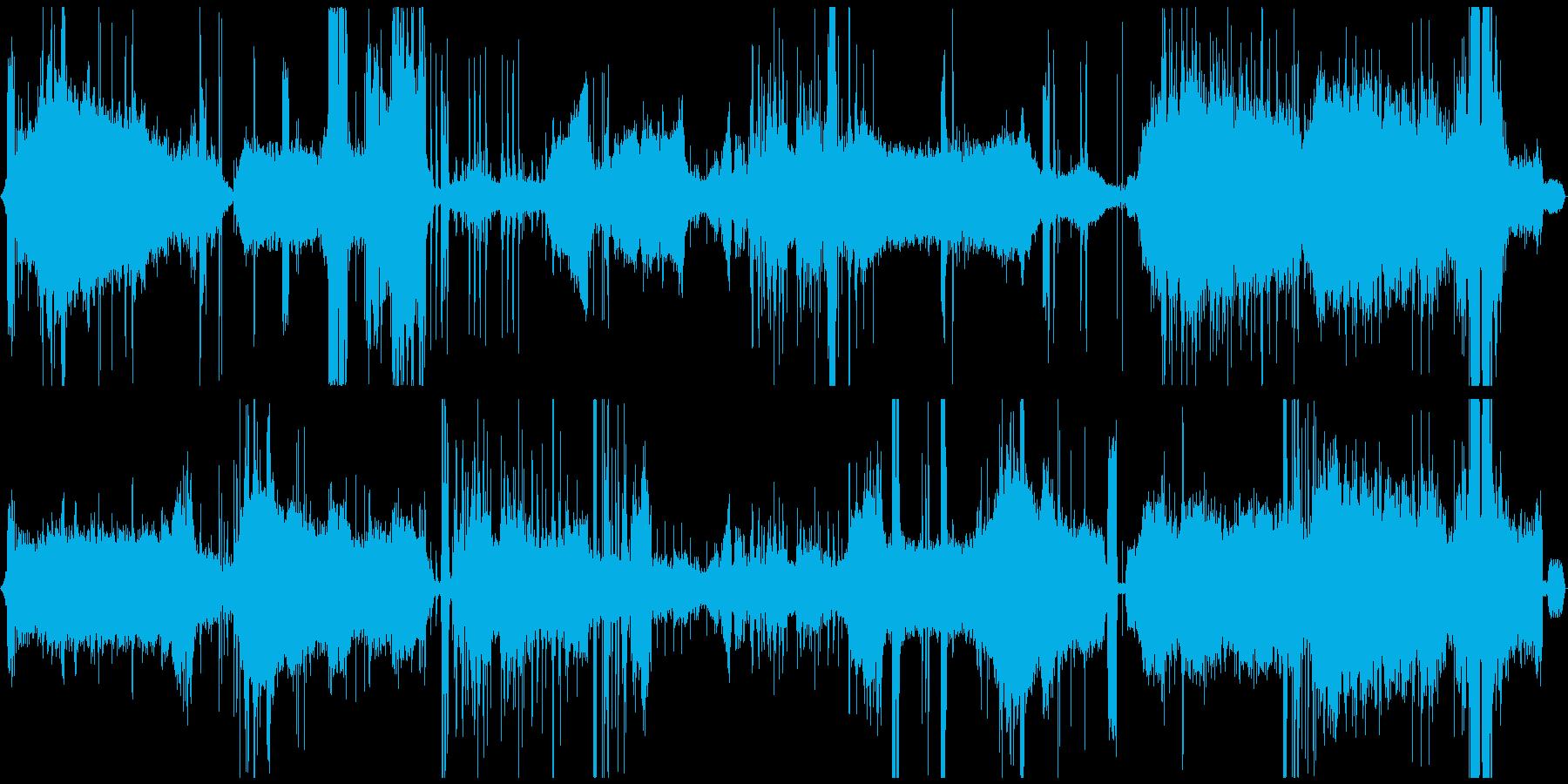 スチームパンクな工場や作業の環境音の再生済みの波形