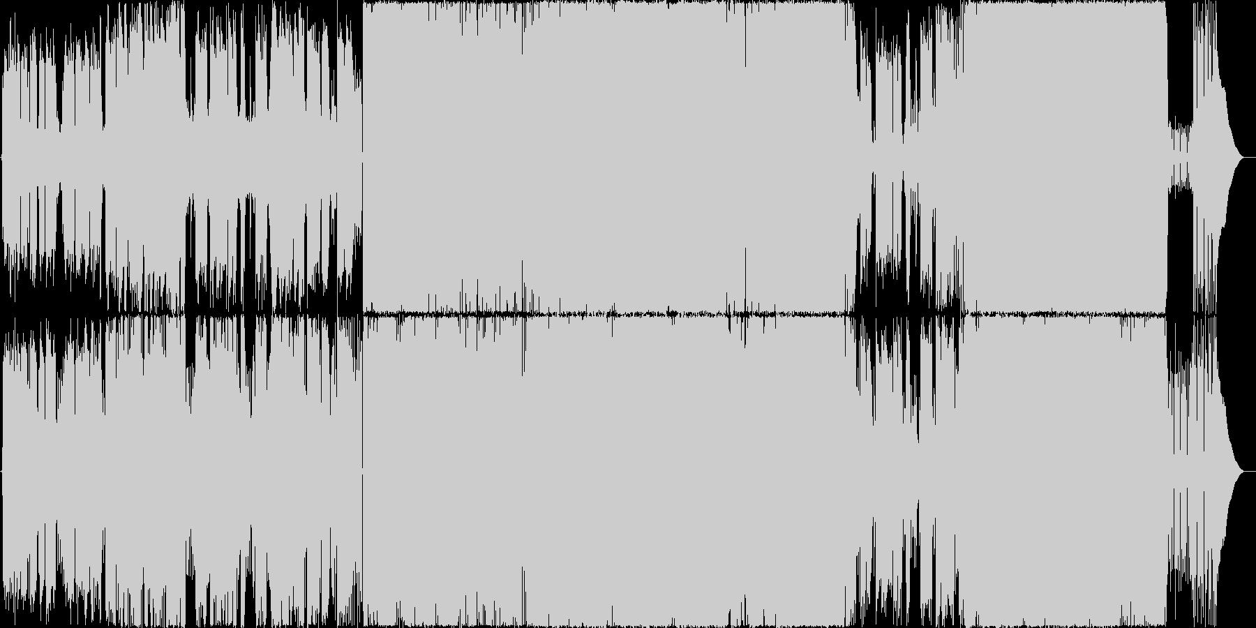 後半からバンドインする爽やかなロックの未再生の波形