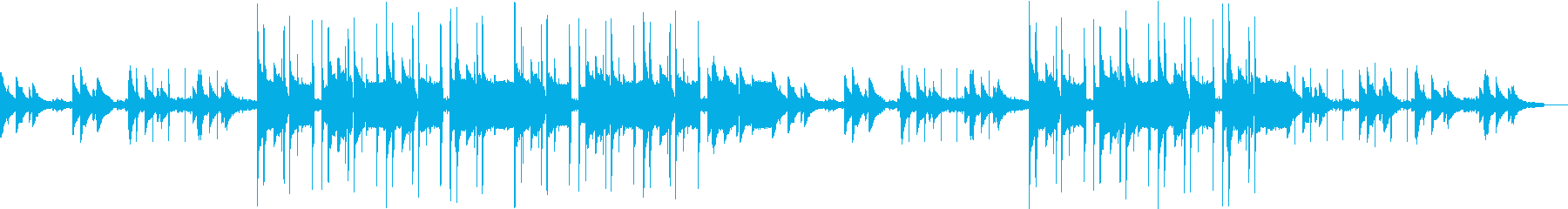 【チル系】王道Lo-Fi HipHopの再生済みの波形