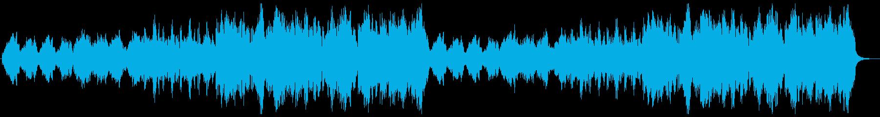 暖かい森をイメージしたサウンドトラックの再生済みの波形