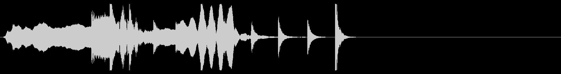 歌舞伎・能◆尺八 小鼓 大拍子 桶胴 の未再生の波形