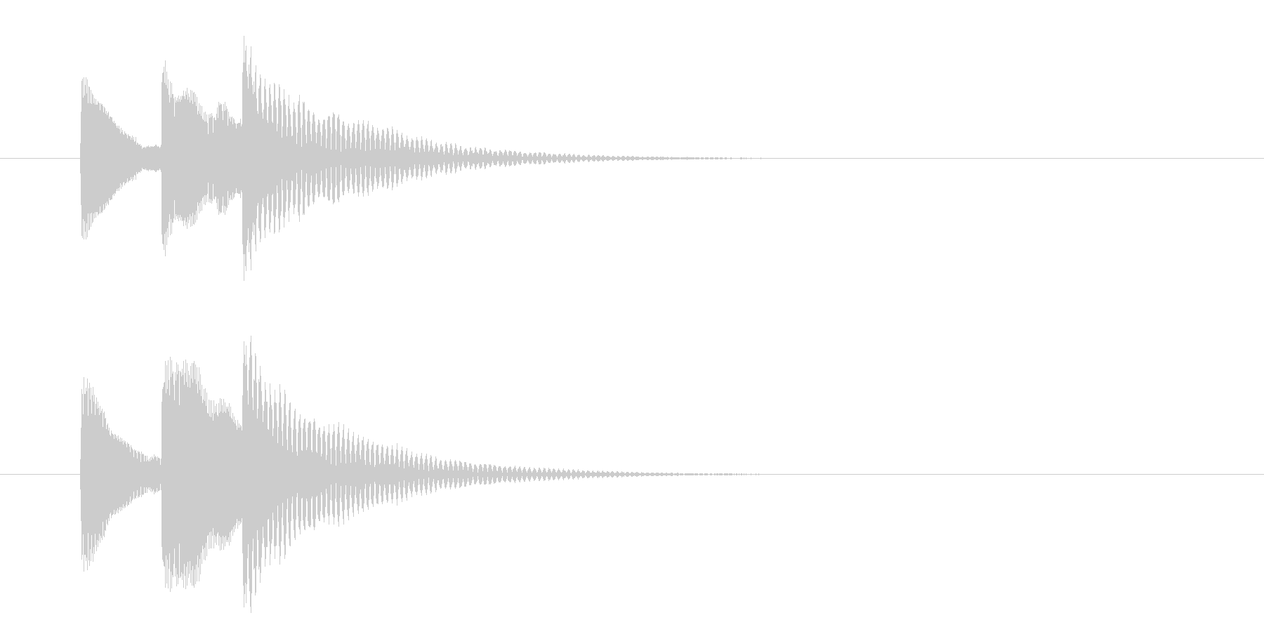 選択/タララン/上がる/シンプルの未再生の波形