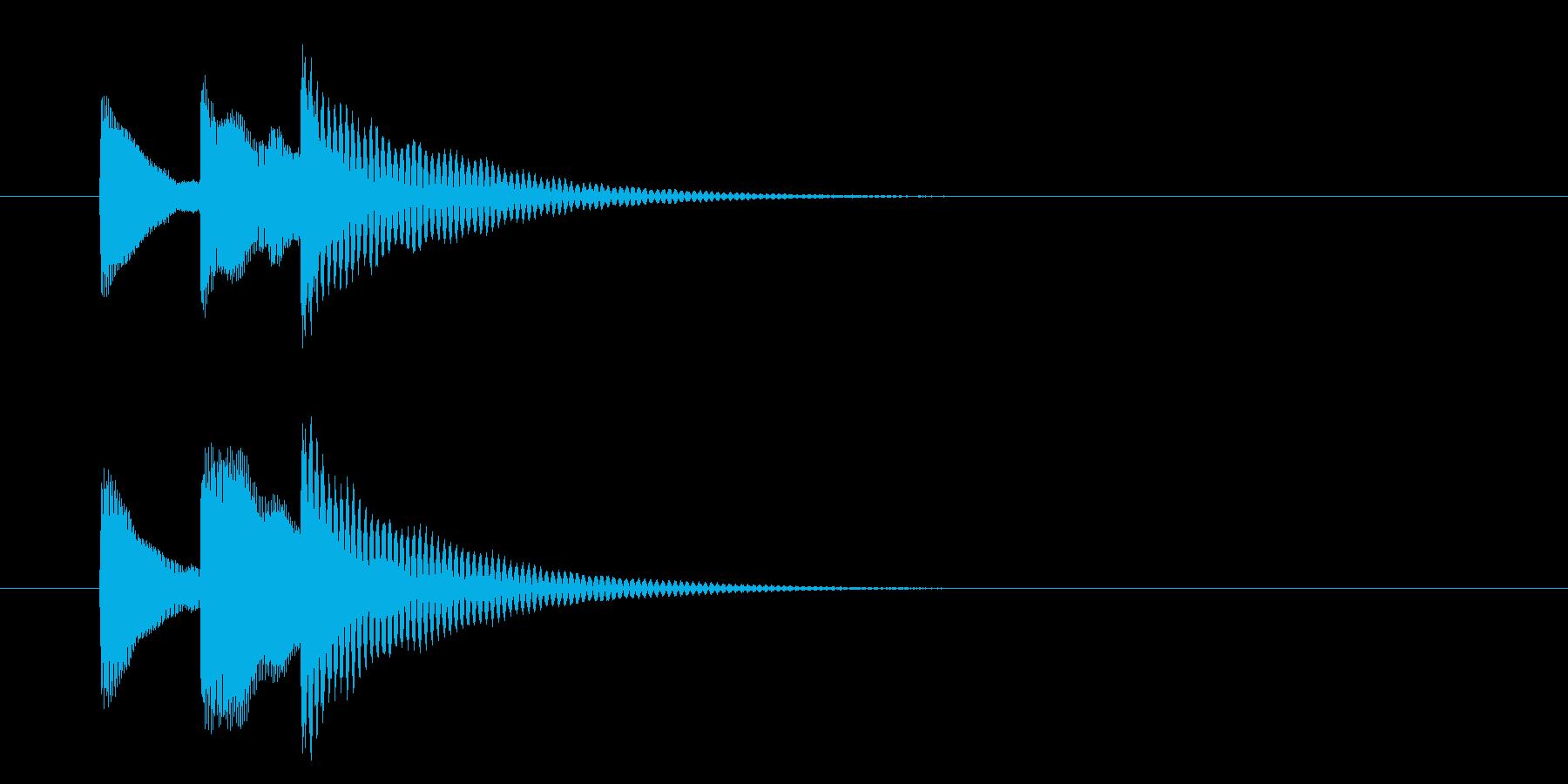 選択/タララン/上がる/シンプルの再生済みの波形