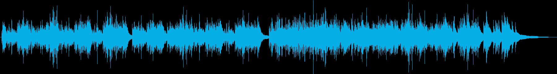 優しい旋律が印象的 生演奏のピアノの再生済みの波形