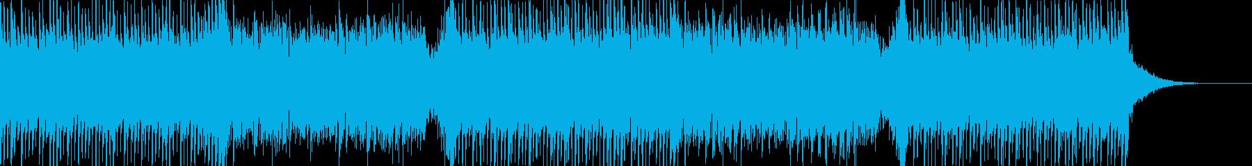 和風なアクションBGMの再生済みの波形