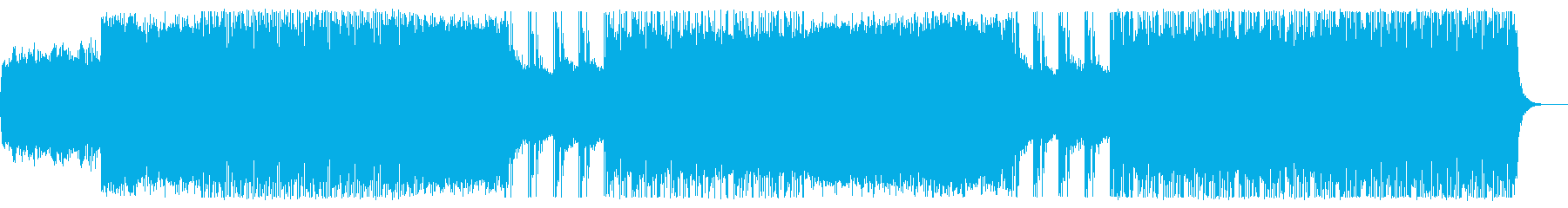 激しい派手なダブステップ系の再生済みの波形