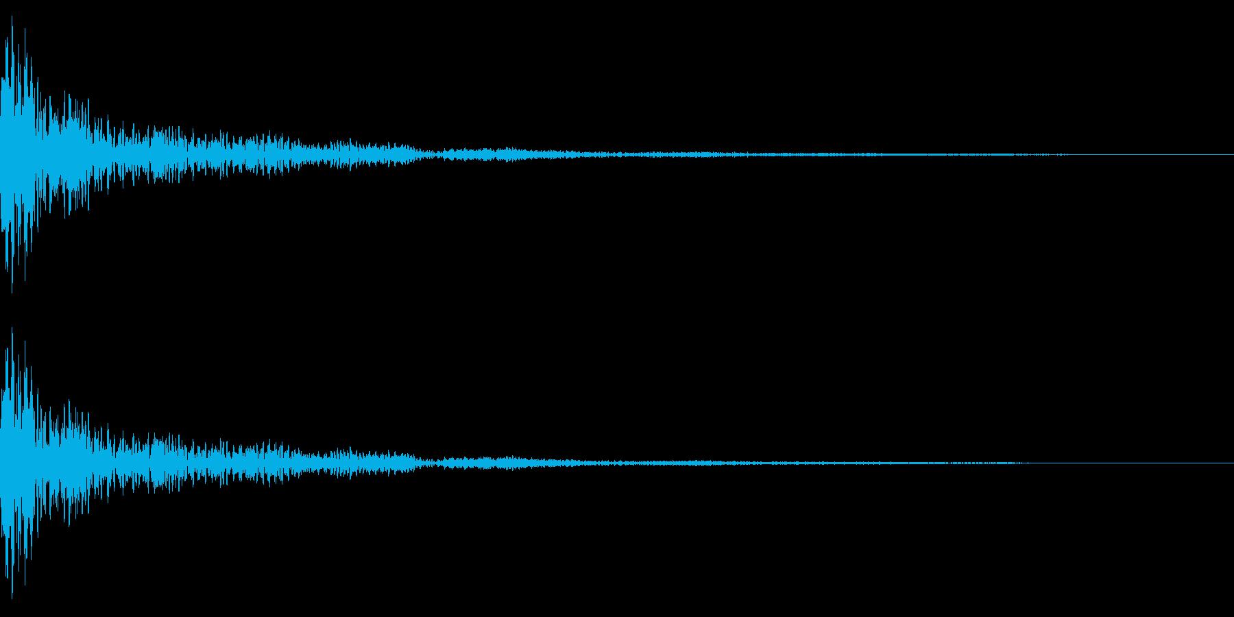 ホラー系アタック音34の再生済みの波形