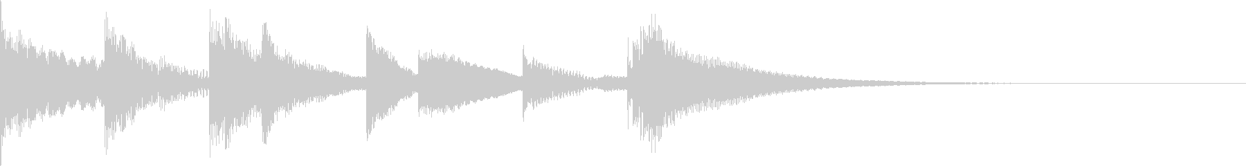 ラジオに合うマリンバの3秒ジングルの未再生の波形
