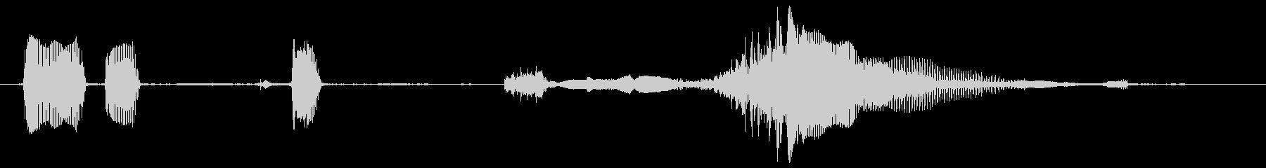 赤ちゃんの笑い声(コンデンサマイク使用)の未再生の波形