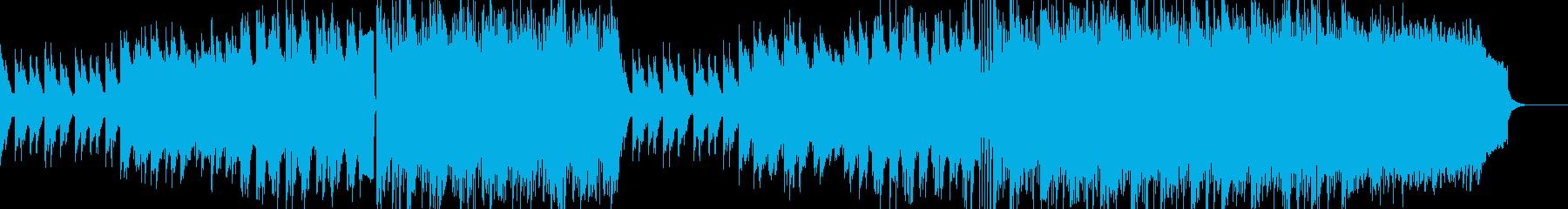 ピアノサウンドの爽やか系EDMの再生済みの波形