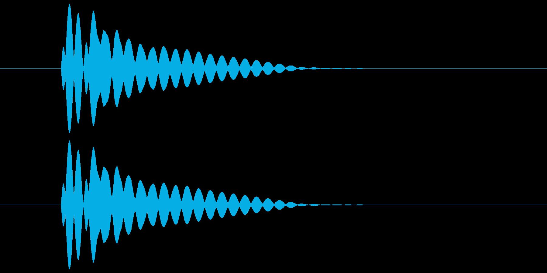 ピコーン(透明感と余韻のある音) 01の再生済みの波形