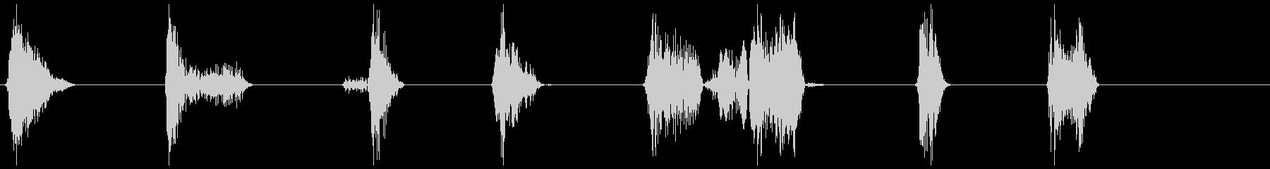 モンスター、タイプ1、うなり8〜14の未再生の波形
