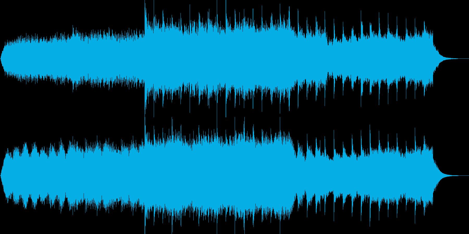 マインドフルネスのための神秘的なBGMの再生済みの波形