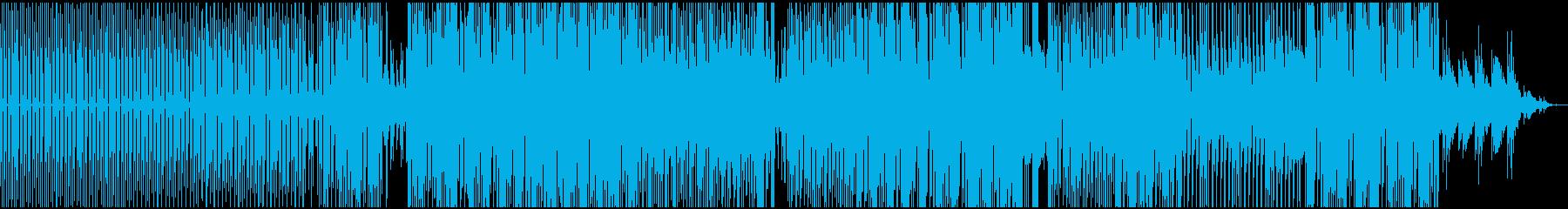 軽快なDEEP HOUSE SOUNDの再生済みの波形