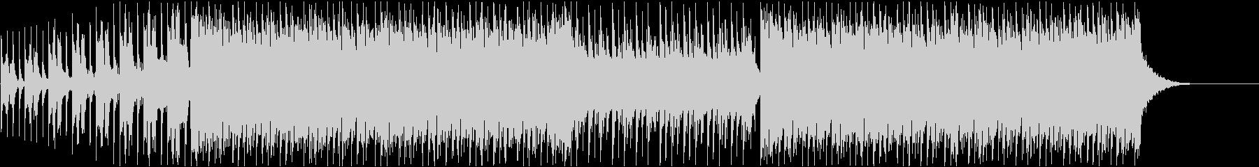 ビート感の強いハウス曲の未再生の波形