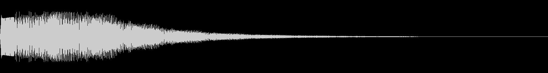 ポワポワした場面転換 電子音の未再生の波形