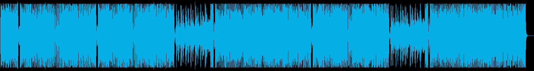 にぎやかで楽しいメロディーの再生済みの波形
