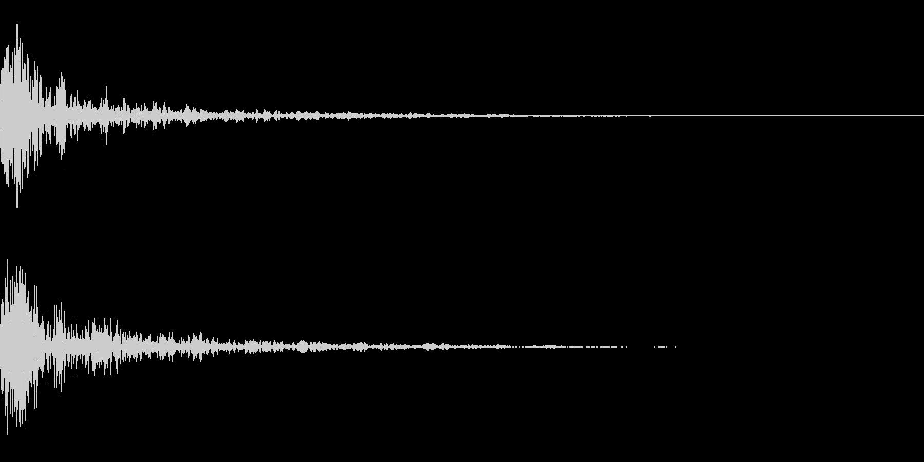 ドーン-53-1(インパクト音)の未再生の波形