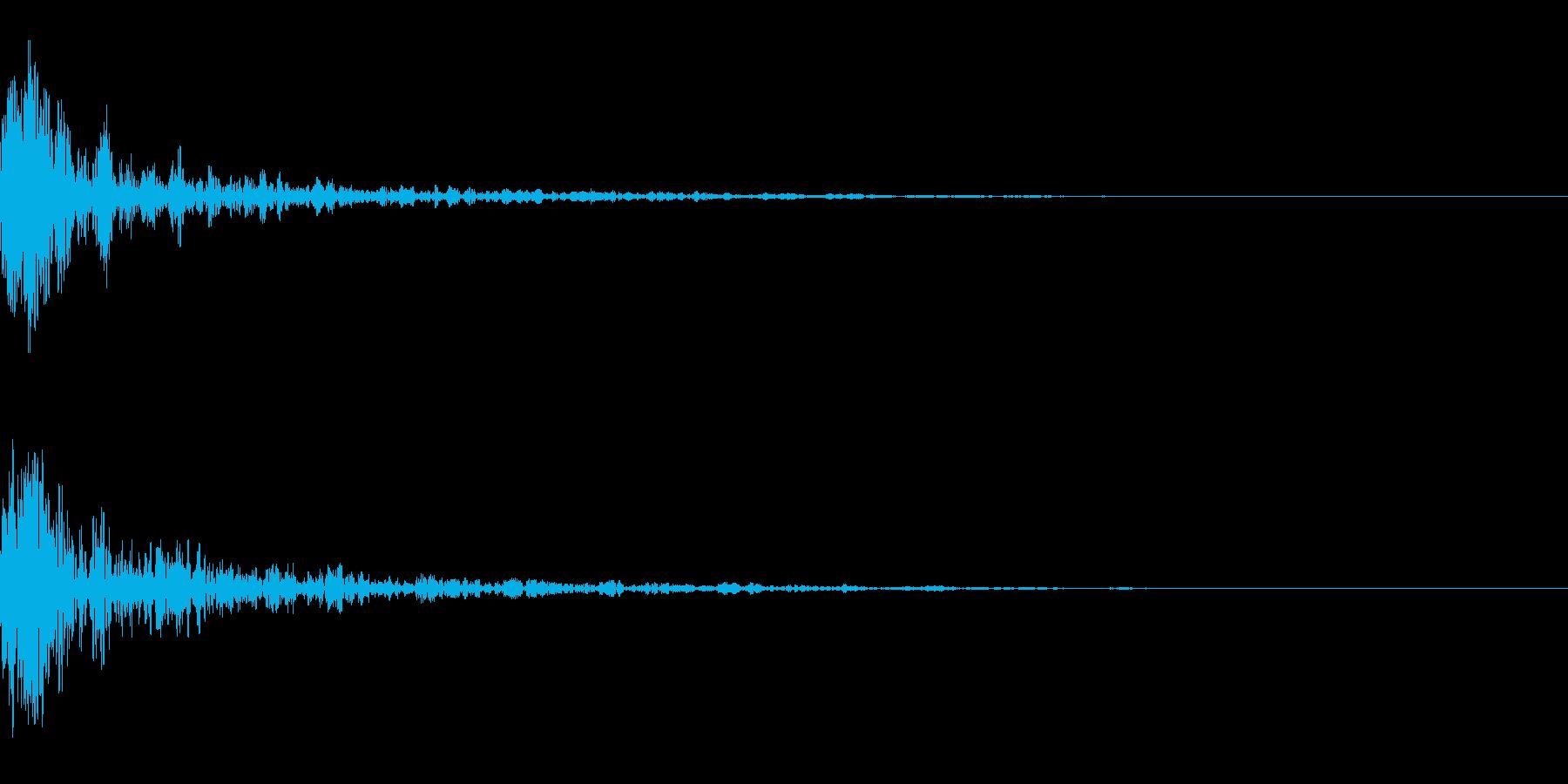 ドーン-53-1(インパクト音)の再生済みの波形
