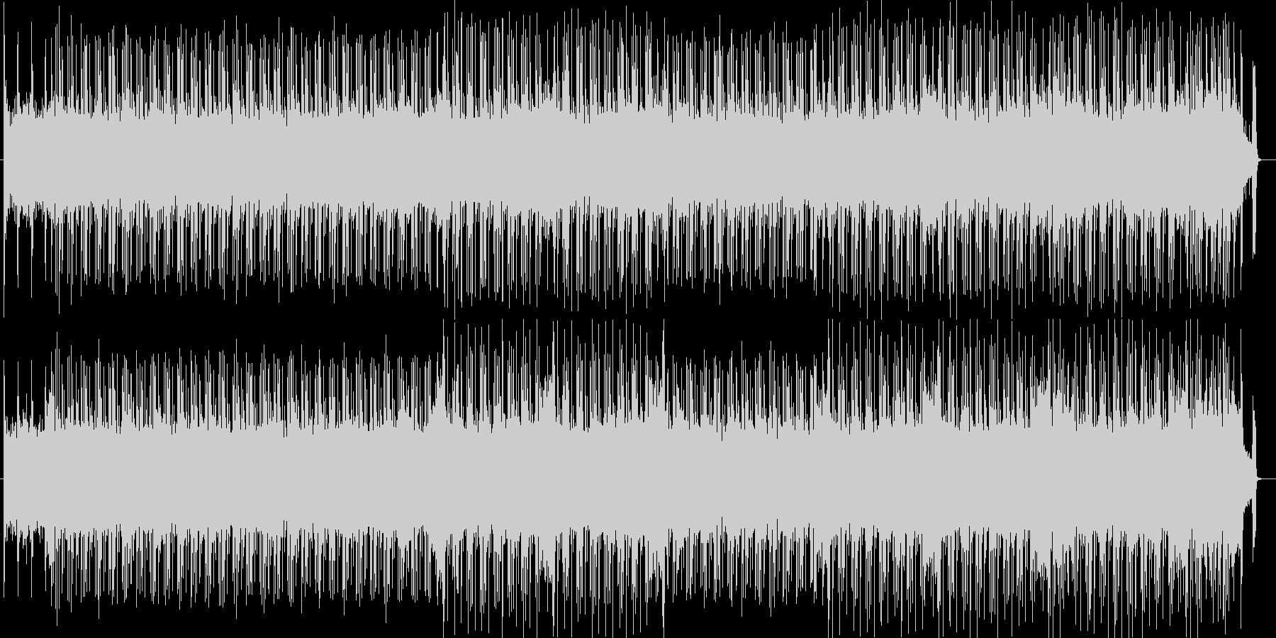 疾走感のあるギターサウンドの未再生の波形