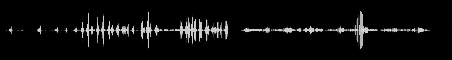 共通のカエルの未再生の波形