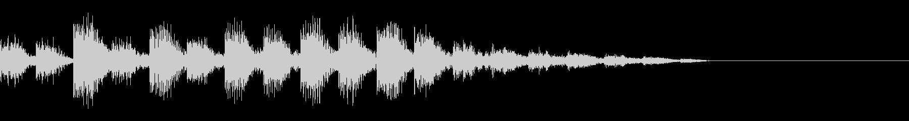 データローディング中の音の未再生の波形