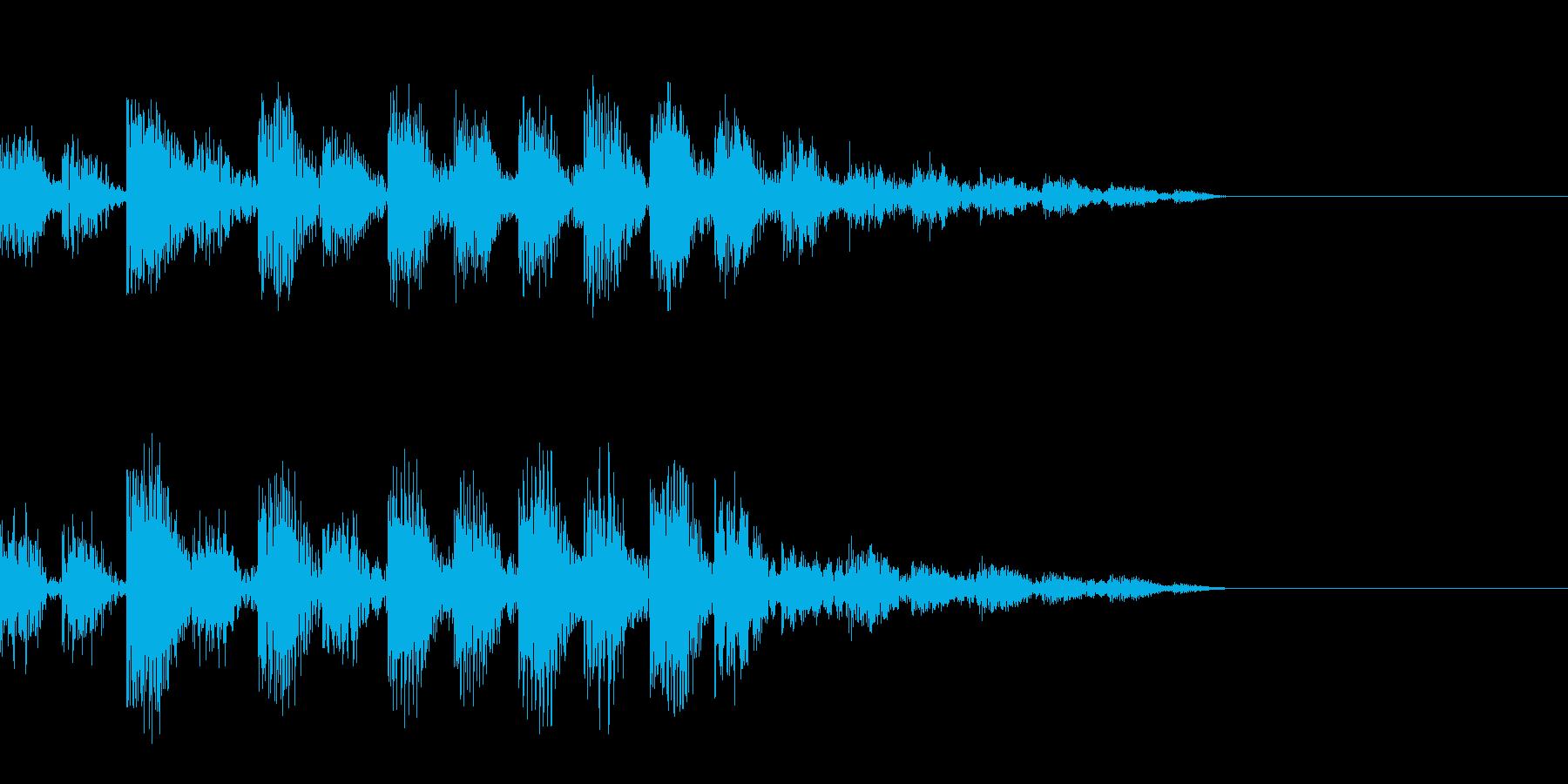 データローディング中の音の再生済みの波形