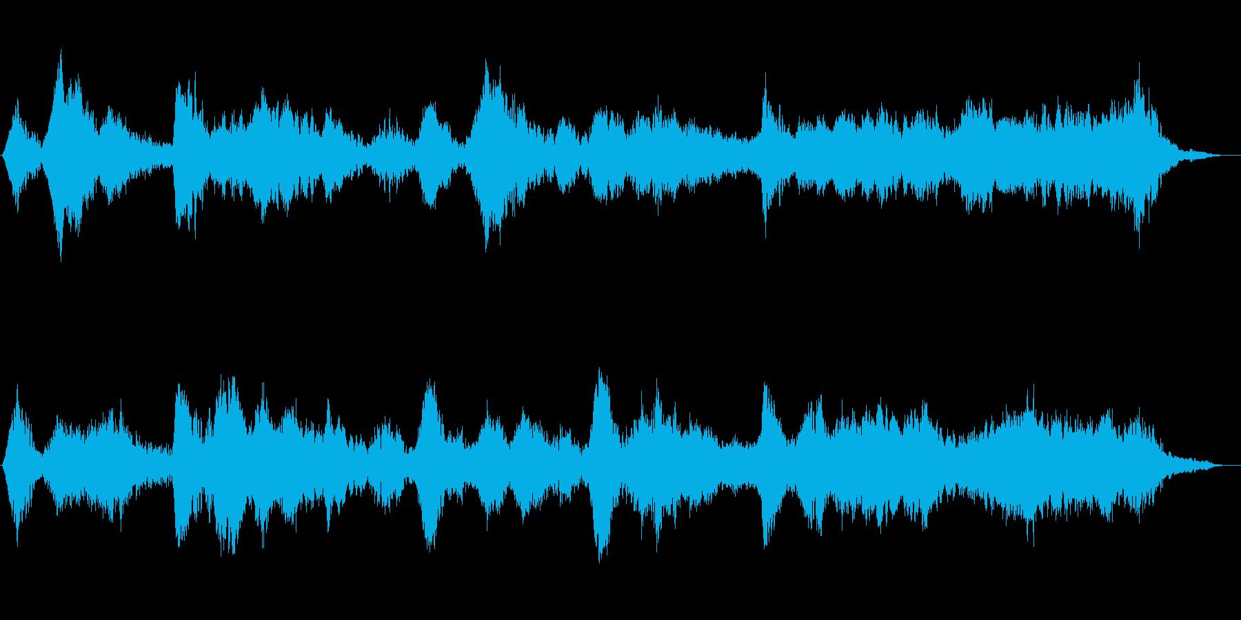 暖かみのあるアンビエントの再生済みの波形