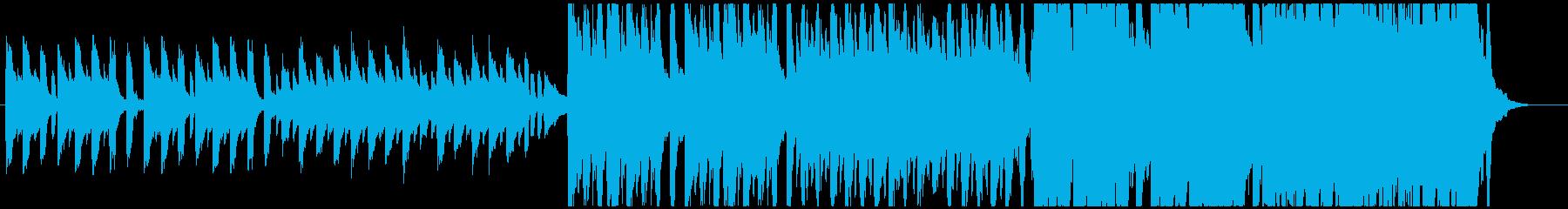 ゆったりテンポから壮大になるハロウィン曲の再生済みの波形