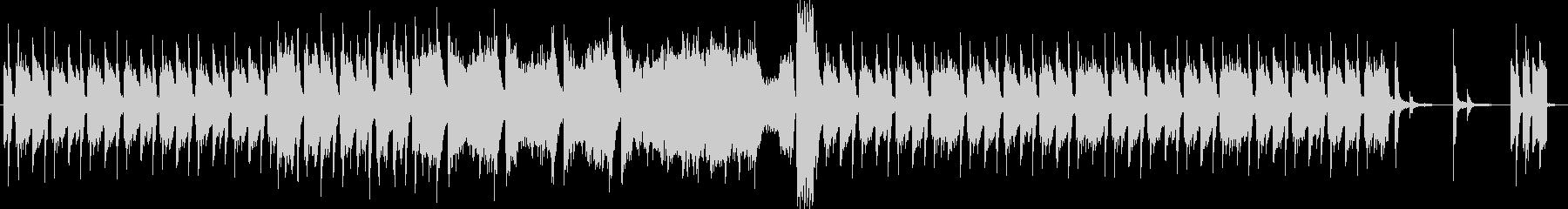 緊張感のあるジャジーな無機質ピアノBGMの未再生の波形