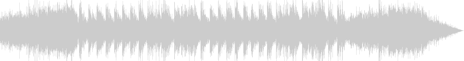 降り積もる雪を表現したボイスシンセピアノの未再生の波形