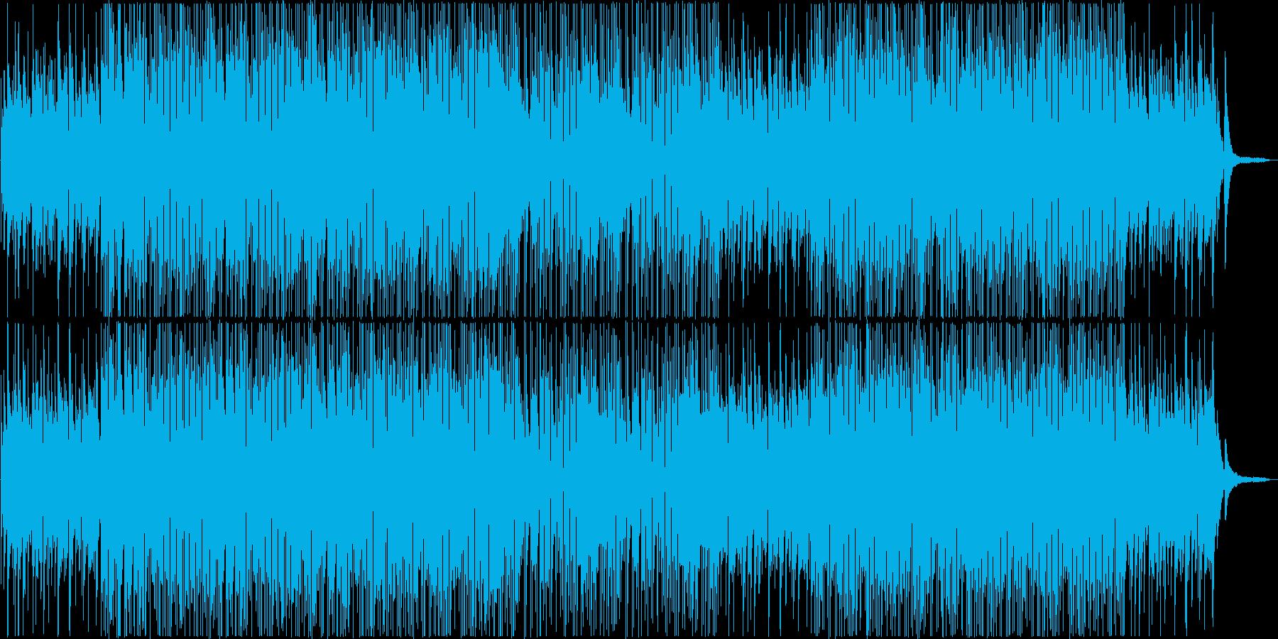 少し切ない雰囲気のボサノバ系BGMの再生済みの波形